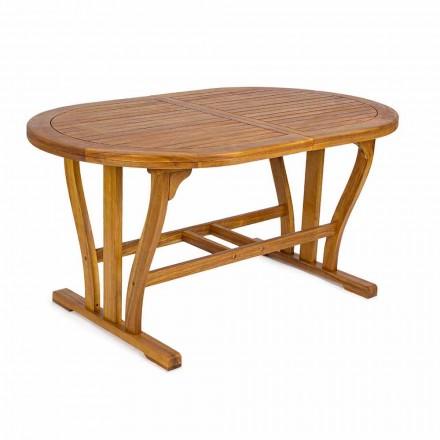 Ausziehbarer Gartentisch Bis zu 200 cm Oval in Holz - Roxen