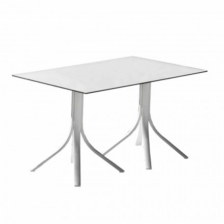 Luxus-Gartentisch aus Aluminium und Weiß Hpl oder Gunmetal - Filomena