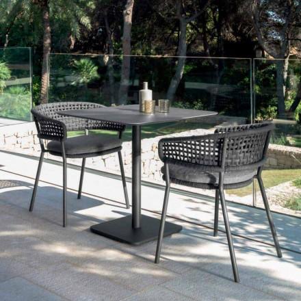Gartentisch aus Keramik Moon Alu Talenti 80x80 cm