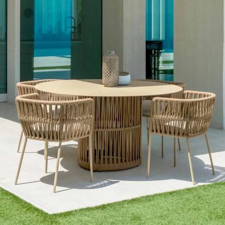 Runder Gartentisch aus Aluminium von Cliff Talenti, Design von Palomba
