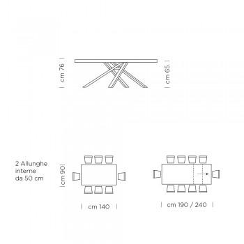 Ausziehbarer Esstisch 260 cm Melamin Made in Italy - Argentario