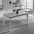 Ausziehbarer Esstisch mit Keramikplan Marmoreffekt Nosate