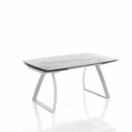 ausziehbarer Design Esstisch aus Glaskeramik - Willer