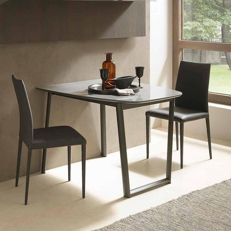 Ausziehbarer Esstisch Bis zu 170 cm aus Keramik Made in Italy - Tremiti
