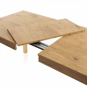 Ausziehbarer Esstisch Bis zu 170 cm aus Melamin Made in Italy - Derino