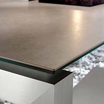 Ausziehbarer Esstisch bis 240 cm aus Laminam Made in Italy - Monolith