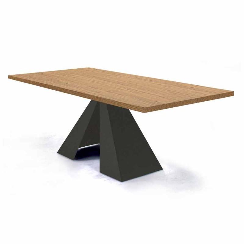 Ausziehbarer Esstisch bis 300 cm aus Holz Made in Italy - Dalmata