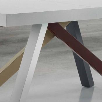 Esstisch Ausziehbar bis zu 450 cm aus Laminat Made in Italy - Salentino
