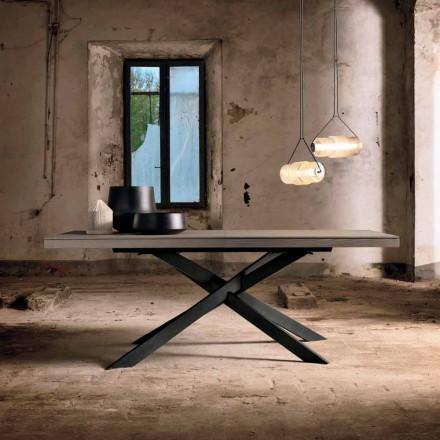 Ausziehbarer Esstisch aus Eichenholz L315 cm made in Italy, Oncino