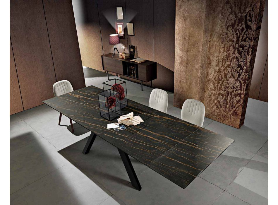 Ausziehbarer Esstisch aus Keramikglas made in Italy, Wilmer