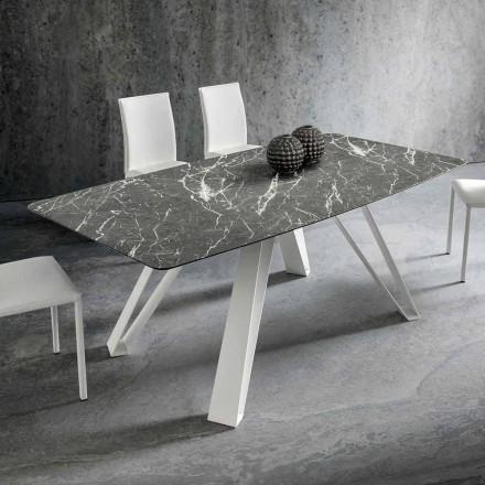 Esstisch mit HPL-Platte und Metallbasis Made in Italy - Aresto