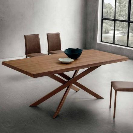 Esstisch mit luxuriöser, entrindeter Walnussplatte Made in Italy - Carlino