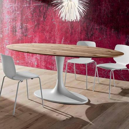 Esstisch mit ovaler Platte aus mehreren Schichten Made in Italy - Brontolo