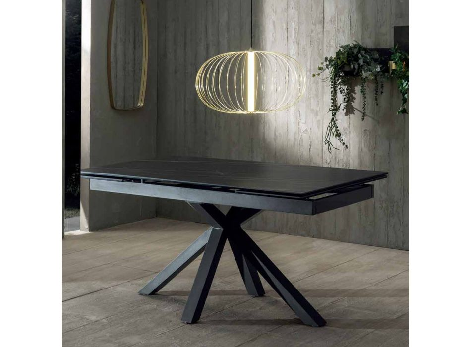 Design Esstisch mit ausziehbarer Keramikplatte bis 240 cm - Ultron