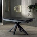 Design Esstisch ausziehbar bis 240 cm mit Tischplatte aus Keramik  - Ultron