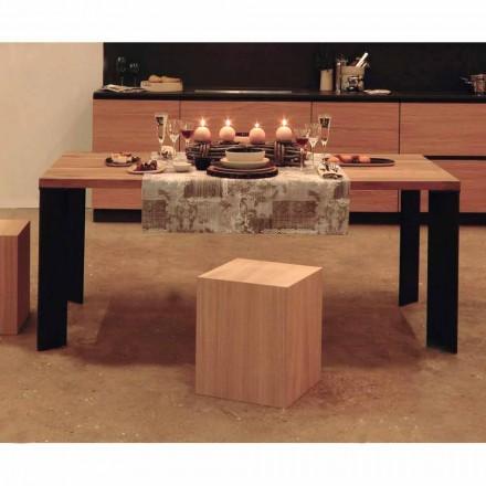 Design Esstisch in natürlichen Nussbaum Design, L200xP100cm, Yvonne