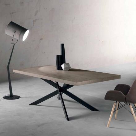 Design-Esstisch aus Eichenholz und Metall made in Italy, Oncino
