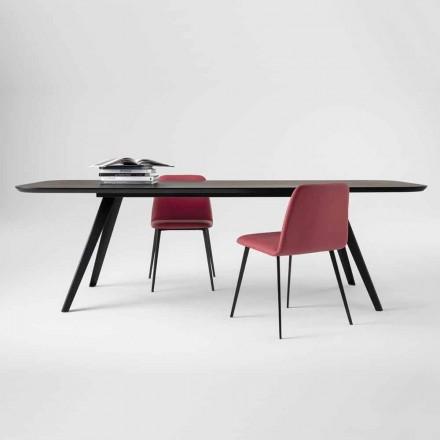 Hochwertiger Esstisch mit Eschenholzplatte Made in Italy - Ulma