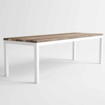 Esstisch aus Holz und Aluminium im modernen Design - Ganges