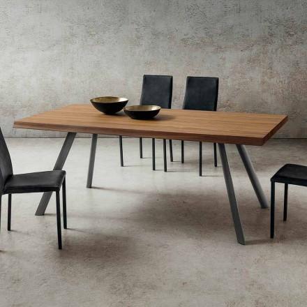 Esstisch aus Holz und Aluminium Made in Italy, Precious - Lingotto