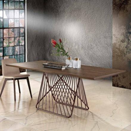 Moderner Esstisch aus Massivholz made in Italy