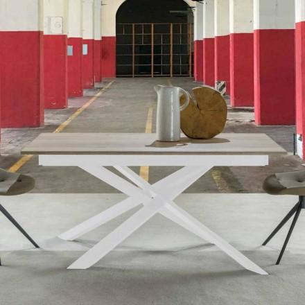 Moderner Esstisch ausziehbar, Melamintischplatte - Marliana