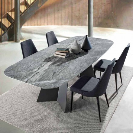 Moderner Essitisch, Tischplatte aus Feinsteinzeug - Meduno