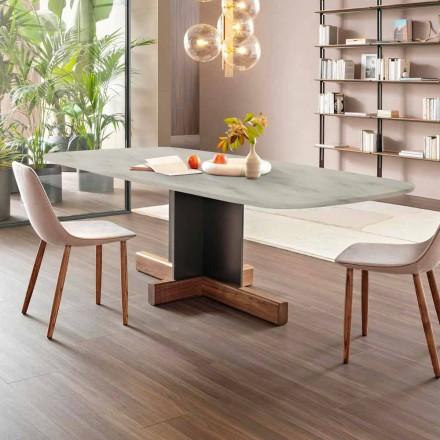 Moderner Esstisch mit Marmorplatte Made in Italy - Bonaldo Cross Tisch