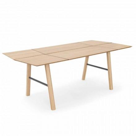 Moderner Esstisch aus Eschenholz mit schwarzen oder goldenen Details - Andria