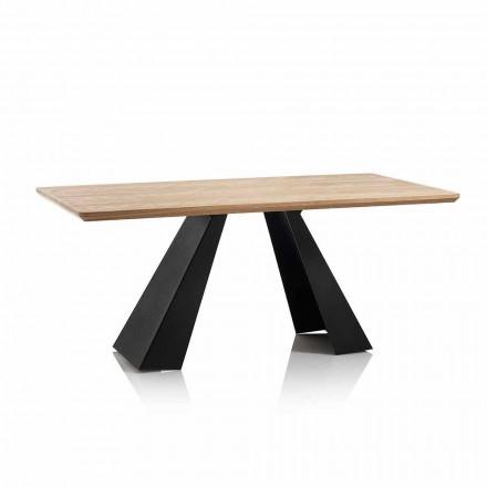 Moderner rechteckiger Esstisch mit Platte in Eichenfarbe Mdf - Volo