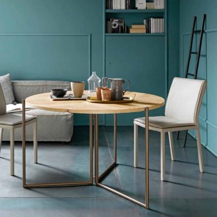 Moderner klappbarer Esstisch aus Holz und Metall Made in Italy - Menelao