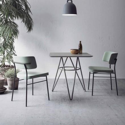 Feiner Esstisch mit quadratischer Platte aus HPL Made in Italy - Dublin