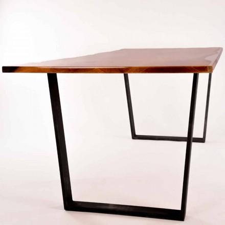 Rechteckiger Esstisch aus Holz, Design made in Italy Rino