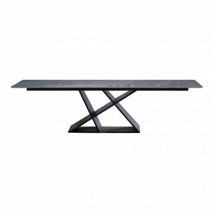 Ausziehbarer Luxustisch Bis zu 294 cm mit Steinzeugplatte Made in Italy - Cirio