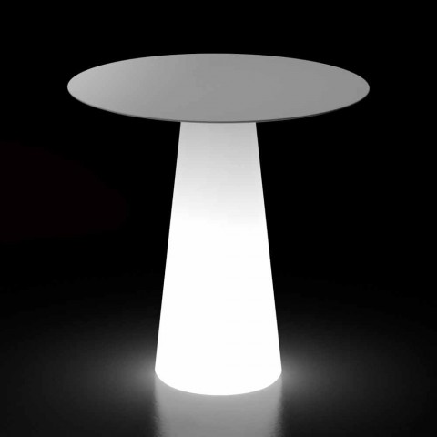 Outdoor-Designtisch mit LED-Lichtbasis Made in Italy - Forlina