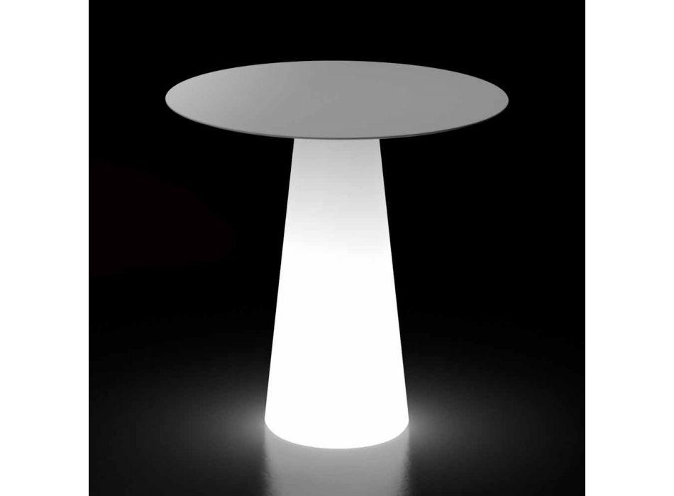 Outdoor-Designtisch mit LED-Lichtbasis Made in Italy - Forlina