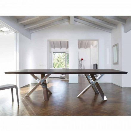 Modernes Design Holztisch 270x120 cm made in Italy Tree