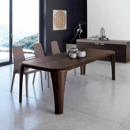 Moderner Designtisch aus Holz, hergestellt in Italien von Hand Holz