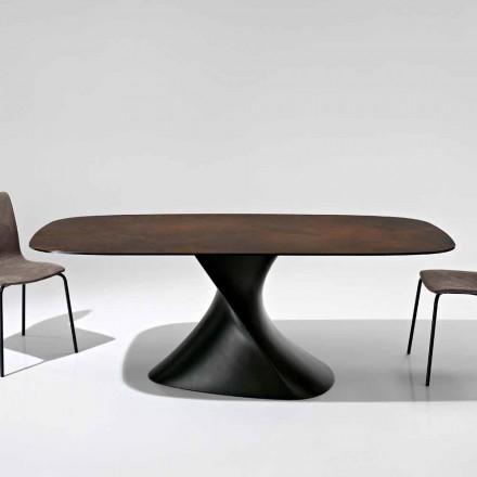 Moderner Designtisch aus Glaskeramik made in Italy, Clark
