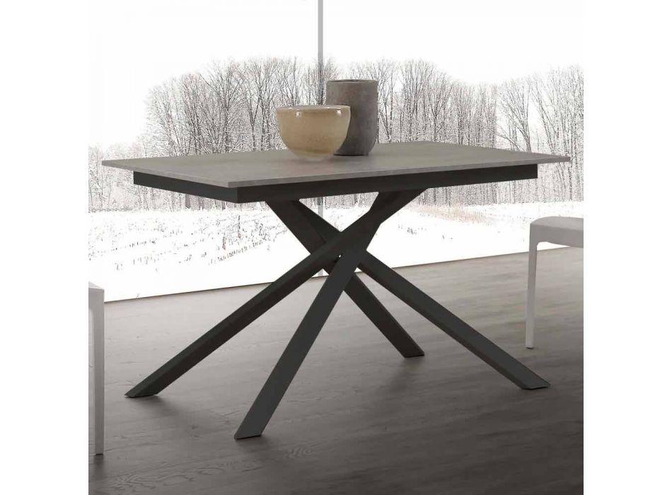 Lecce Holztisch ausziehbar bis 190 cm mit gekreuzter Basis