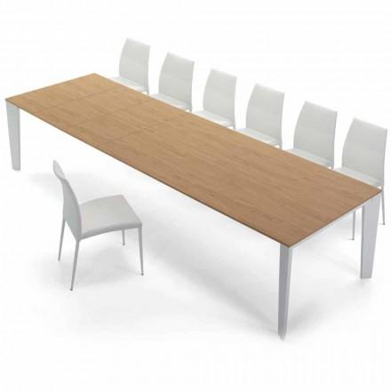 Esstisch aus Furnierholz ausziehbar bis 325 cm Made in Italy – Settanta