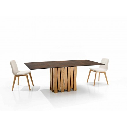 Moderner Designtisch aus Glaskeramik made in Italy, Egisto