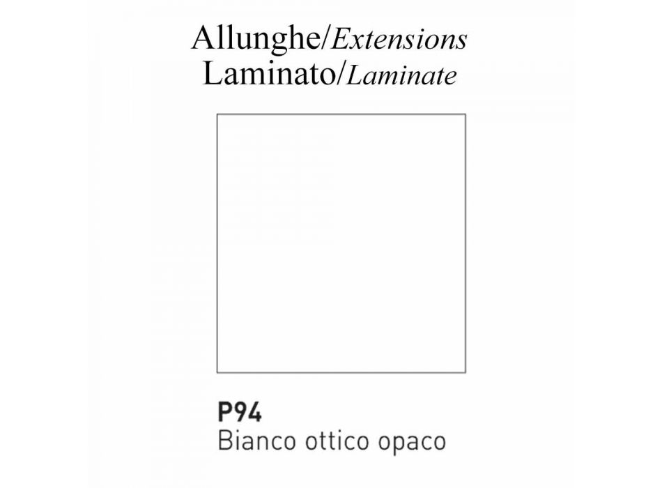 Ausziehbarer Esstisch bis 310 cm aus Keramik Made in Italy - Connubia Dorian