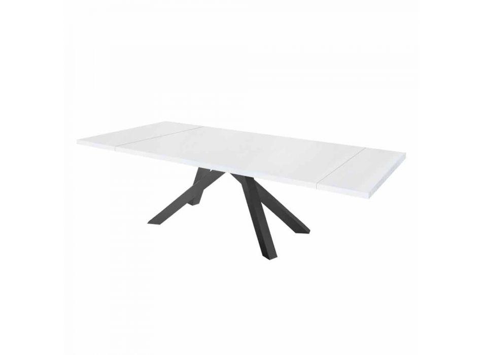 Ausziehbarer Esstisch Bis 300 cm aus Melamin Made in Italy - Settimmio