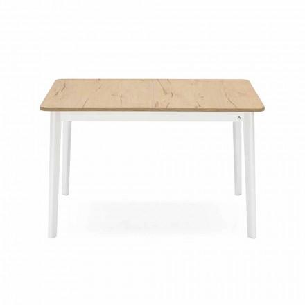 Rechteckiger ausziehbarer Tisch bis 170 cm in Holz Made in Italy - Dine