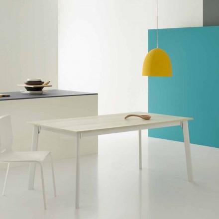 Moderner rechteckiger ausziehbarer Tisch mit 6/8 Sitzplätzen - Sellia Basic