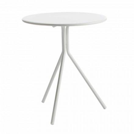 Runder Tisch im Freien aus modern lackiertem Metall Made in Italy - Gobi