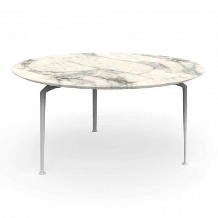 Runder Tisch im Freien aus modernem Design, Steinzeug und Aluminium - Cruise Alu Talenti
