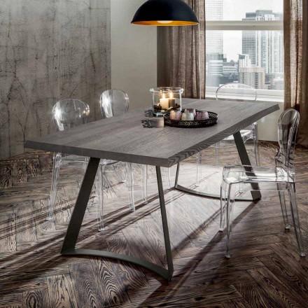 Esstisch mit Platte aus entrindeter Eiche Made in Italy - Pinocchio