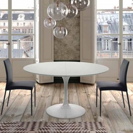 Runder Esstisch ausziehbar bis 170 cm aus laminiertem Holz – Dollars